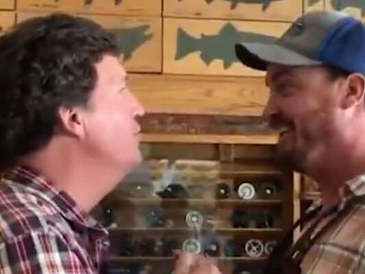 Tucker Carlson Confronted by Montana Man: 'You Are The Worst Human Being' (Video)