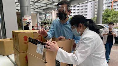 葉元之》謝謝華僑捐給板橋防疫物資