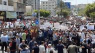 Protest in Gaza Against Israel's West Bank Annexation Plan