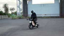 An electric motorbike that fits right under your desk