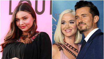 Miranda Kerr says she is 'so grateful' that her ex-husband Orlando Bloom met Katy Perry