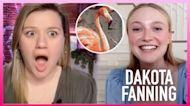 Kelly Screams Seeing Dakota Fanning's Incredible Paint-By-Numbers Artwork