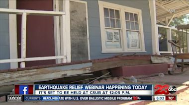 Earthquake relief webinar happening today