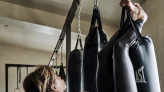 Halle Berry shows off incredible upper body strength, hangs upside down on punching bag: 'This is just beyond impressive'