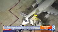 Man who allegedly tried to breach cockpit and jumped from departing LAX plane facing federal charge