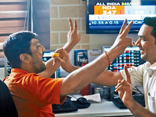 印度股市破頂 一年大漲64%
