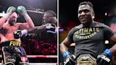 Ngannou sick of 'borrowing money' amid boxing hint as Fury and Wilder make £18m
