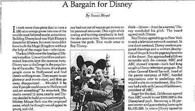 1987年報導曝光!第1座迪士尼樂園成立間接功臣竟是它