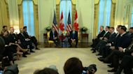 Impeachment shadowing Trump to NATO summit