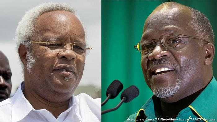... to be a close race between John Magufuli (left) and Edward Lowassa