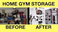 Home gym storage & organization ideas: Build a home gym in a garage