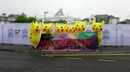 Giant Pikachus head to G7 summit