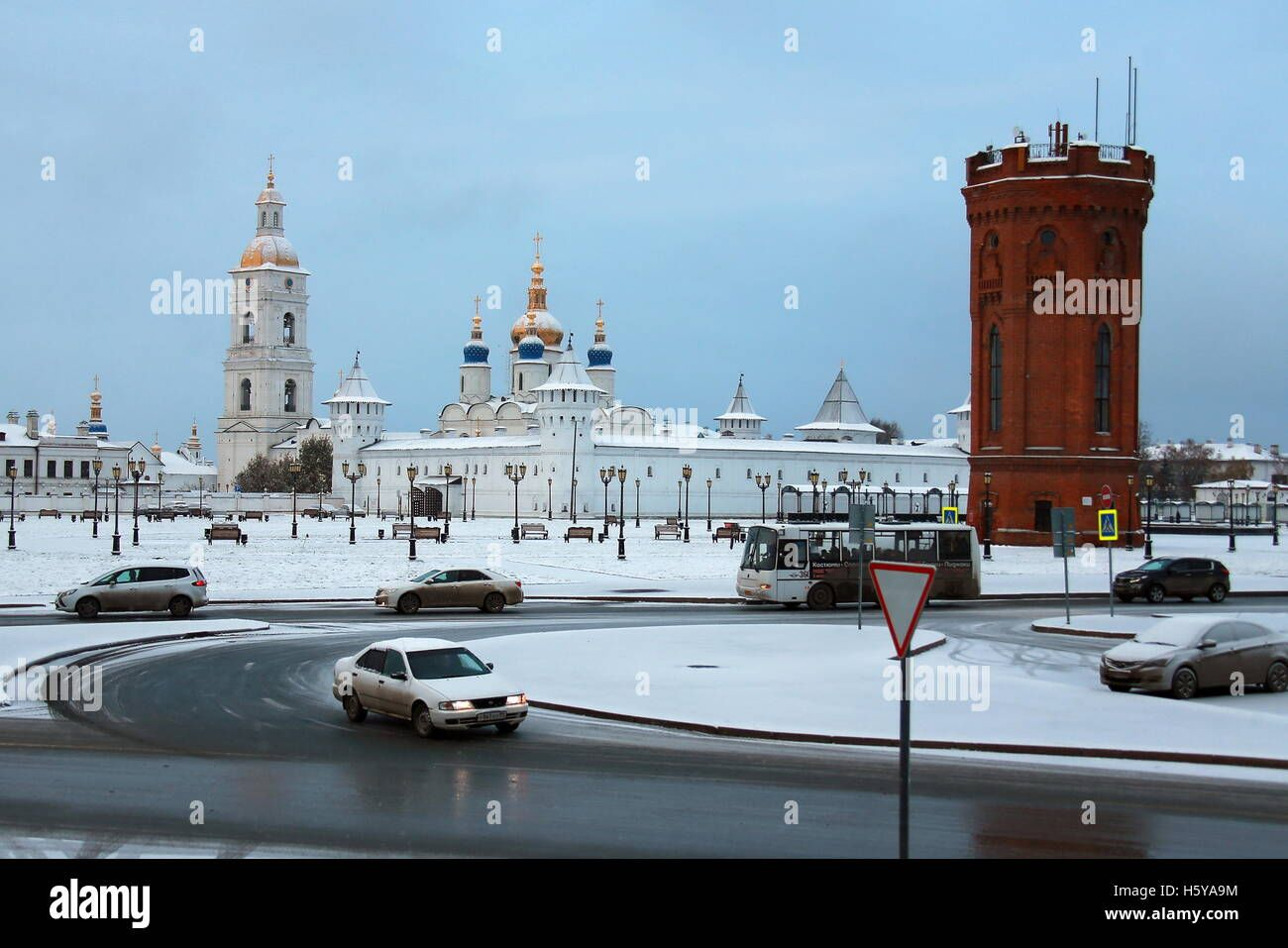 TOBOLSK, TYUMEN REGION, RUSSIA - OCTOBER 20, 2016: A view ...