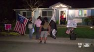 A group of protesters spoke out at the Lucia Mar Unified School Board meeting