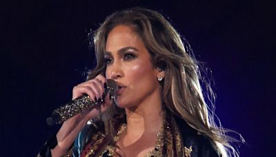 Jennifer Lopez Dazzles at Global Citizen Live in Embellished Jumpsuit and Sleek Leather Boots