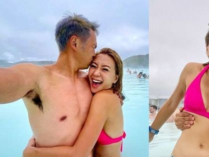 兩年無出埠拍旅遊節目 梁芷珮孖老公飛冰島水中放閃