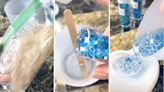 Mom preserves baby son's first haircut in stunning resin craft: 'This is absolutely beautiful'