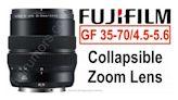 【上車福音】Fujifilm 入門 GF 35-70mm 變焦鏡擬改用伸縮式收納結構 - DCFever.com