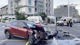 A柱擋視線!路口2車對撞 釀2傷