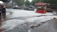 Hail storm pounds Istanbul