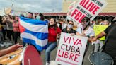 After a Castro supporter showed up, chaos erupted at an anti-communism rally in Miami