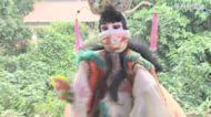 普渡不忘宣導防疫 布袋戲偶也戴口罩!