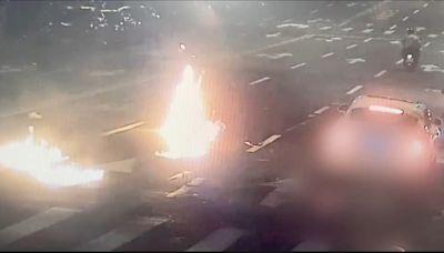 警官子騎車左轉 遭新北土方公會理事長千萬名車撞飛昏迷