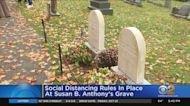 Social Distancing Rules In Place At Susan B. Anthony's Grave