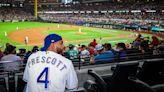 WATCH: Cowboys QB Dak Prescott Roots For Rangers At Ballpark