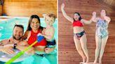 Amy Duggar stuns in a red bikini as she breaks family's modest dress rules