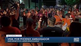 Candlelight vigil for beloved downtown Phoenix ambassador Hans Hughes