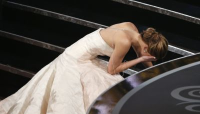 Jennifer Lawrence admits she was 'very sensitive' about her infamous Oscar fall for 'a very long time'