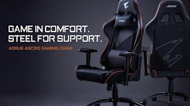 技嘉推出 AORUS AGC310 專業電競賽車椅 擁有加寬的椅背與椅坐設計