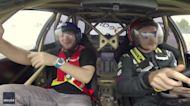 Khabib Nurmagomedov Takes a Spin With Professional Drift Driver