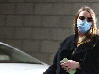 Pregnant Emma Stone Runs Errands in Santa Monica in a Black Maxi Dress