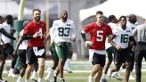 Jets begin camp practices without unsigned QB Wilson