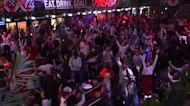 England fans burst with joy after semi-final win