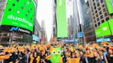 Duolingo brings Terrible Towel to Times Square to celebrate company's IPO