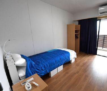 金牌選手睡過的床 東奧「紙板床」捐給大阪方艙醫院當病床