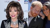 Joan Collins Has Had Enough Of Prince Harry And Meghan Markle - Daily Soap Dish