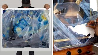 Incredibly Realistic Paintings Look Like They're Wrapped in Plastic Film