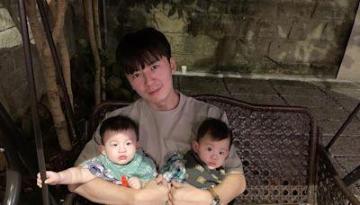 李國毅抱兩娃「眼神有愛」 冒汗:叫我岳父什麼意思