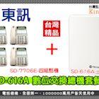 監視器 東訊 SD-616A 數位交換機 總機x1台 + SD-7706E 6鍵式數位來電顯示話機x4台 台灣安防