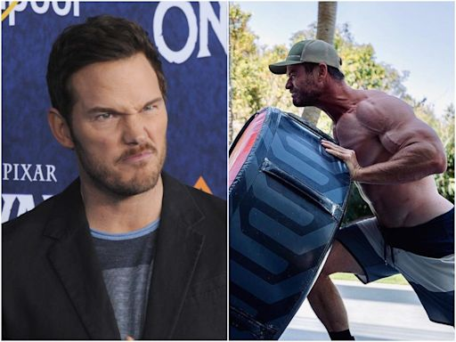 Chris Pratt told Chris Hemsworth to 'stop working out' ahead of their movie together after the 'Thor' star posted a shredded workout photo