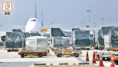 機管局貨運量 較去年同月升近兩成
