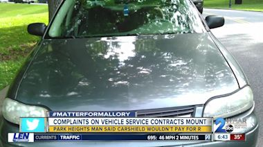 Driver who relied on extended car warranty says company refused to pay for repairs