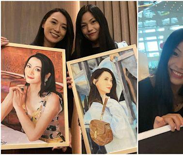 李龍基太太畫藝人極神似 分享海量肖像畫獲封「皇嫂姐姐」