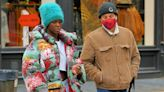 Jodie Turner-Smith Models Winter's Trendiest Jacket with Joshua Jackson in NYC