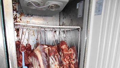 食環署打擊懷疑以冷藏肉充當新鮮肉出售的新鮮糧食店(附圖)
