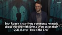 "Seth Rogen Cleared Up a Rumor About Emma Watson ""Storming Off"" the Set of Their Movie"